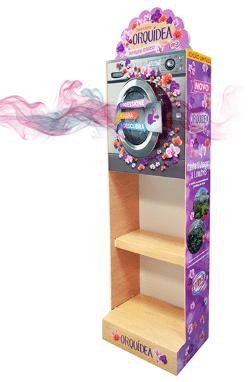 Expositor PLV difusor de aroma Orquidea con Brand Scent