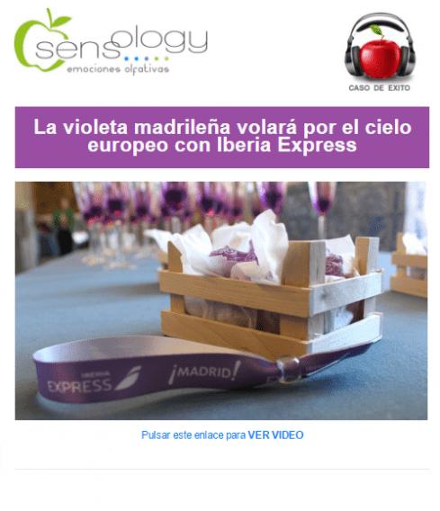 La violeta madrileña Iberia Express